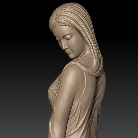 ChineseBeautyA7.jpg Télécharger fichier STL gratuit Beauté • Objet pour imprimante 3D, stlfilesfree