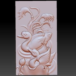 swan1.jpg Download free STL file swan 3d model of bas-relief • 3D printable design, stlfilesfree