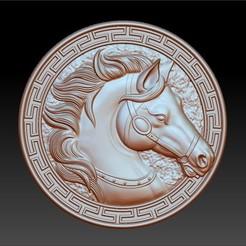 HorseHead1.jpg Télécharger fichier STL gratuit pendentif tête de cheval • Modèle à imprimer en 3D, stlfilesfree