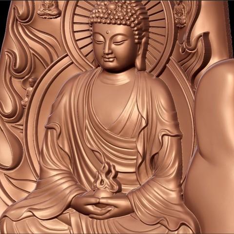 buddhaHand8.jpg Télécharger fichier STL gratuit Bouddha avec fond de main • Plan à imprimer en 3D, stlfilesfree