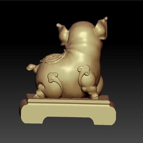 LuckyPig3.jpg Télécharger fichier STL gratuit Cochon chanceux • Plan pour imprimante 3D, stlfilesfree