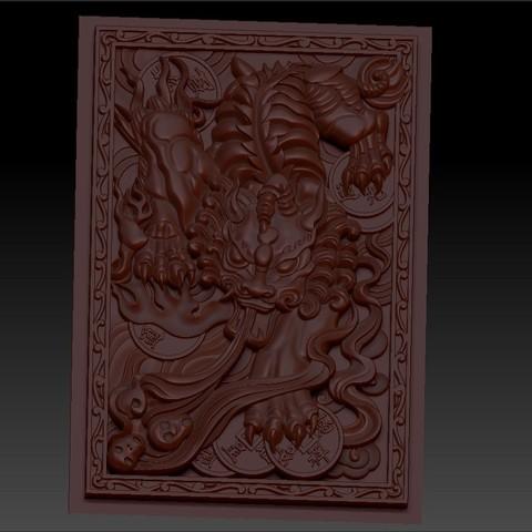 pixiu3.jpg Télécharger fichier STL gratuit Mythique Animal Sauvage Pixiu • Modèle à imprimer en 3D, stlfilesfree