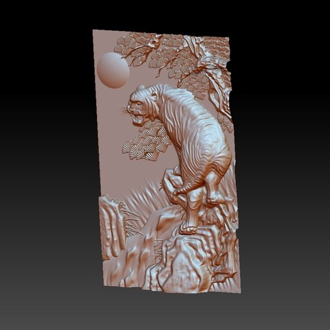 Tiger2.jpg Télécharger fichier STL gratuit tigre • Plan à imprimer en 3D, stlfilesfree