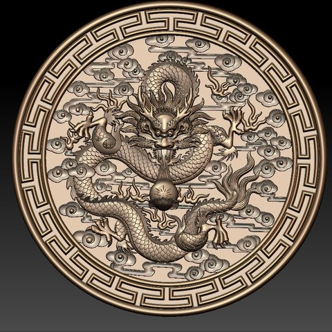 round_Dragon1.jpg Download free STL file dragon • 3D print object, stlfilesfree