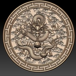 round_Dragon1.jpg Télécharger fichier STL gratuit dragon • Plan à imprimer en 3D, stlfilesfree