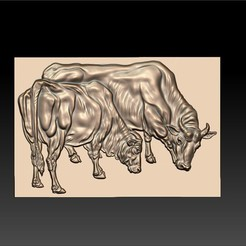 two_bulls1.jpg Download free STL file two bulls • Model to 3D print, stlfilesfree