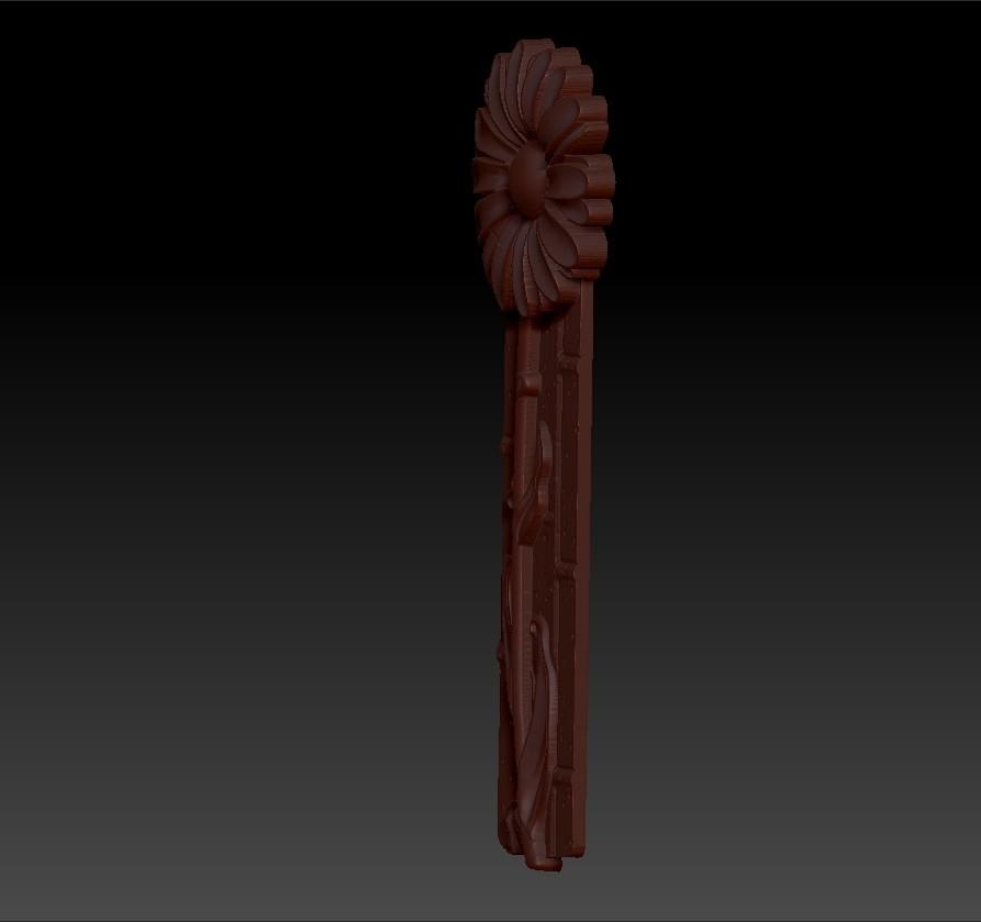 z0flower4.jpg Télécharger fichier OBJ gratuit marguerite fleur modèle 3d de relief • Design imprimable en 3D, stlfilesfree