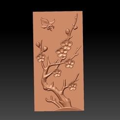 Plum_blossomB1.jpg Télécharger fichier STL gratuit fleur de prunier • Objet pour impression 3D, stlfilesfree