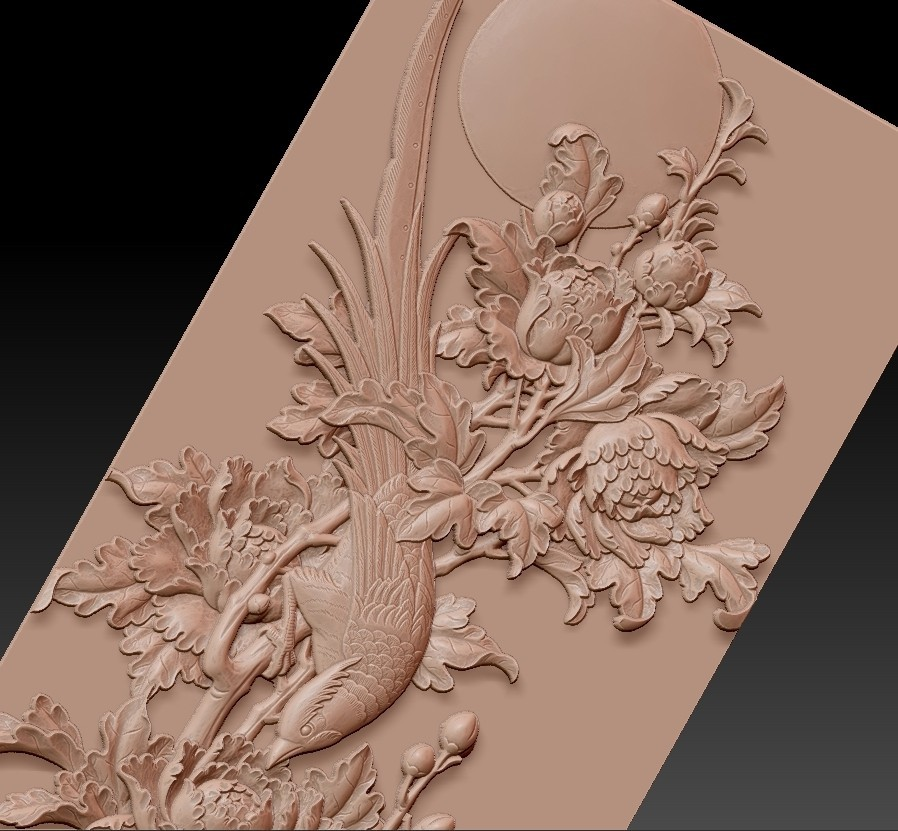 birdsAndFlowers9.jpg Télécharger fichier STL gratuit fleurs et oiseaux • Plan pour impression 3D, stlfilesfree