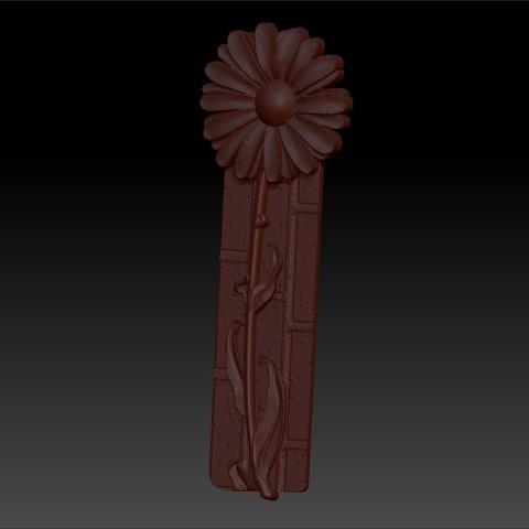 z0flower2.jpg Télécharger fichier OBJ gratuit marguerite fleur modèle 3d de relief • Design imprimable en 3D, stlfilesfree