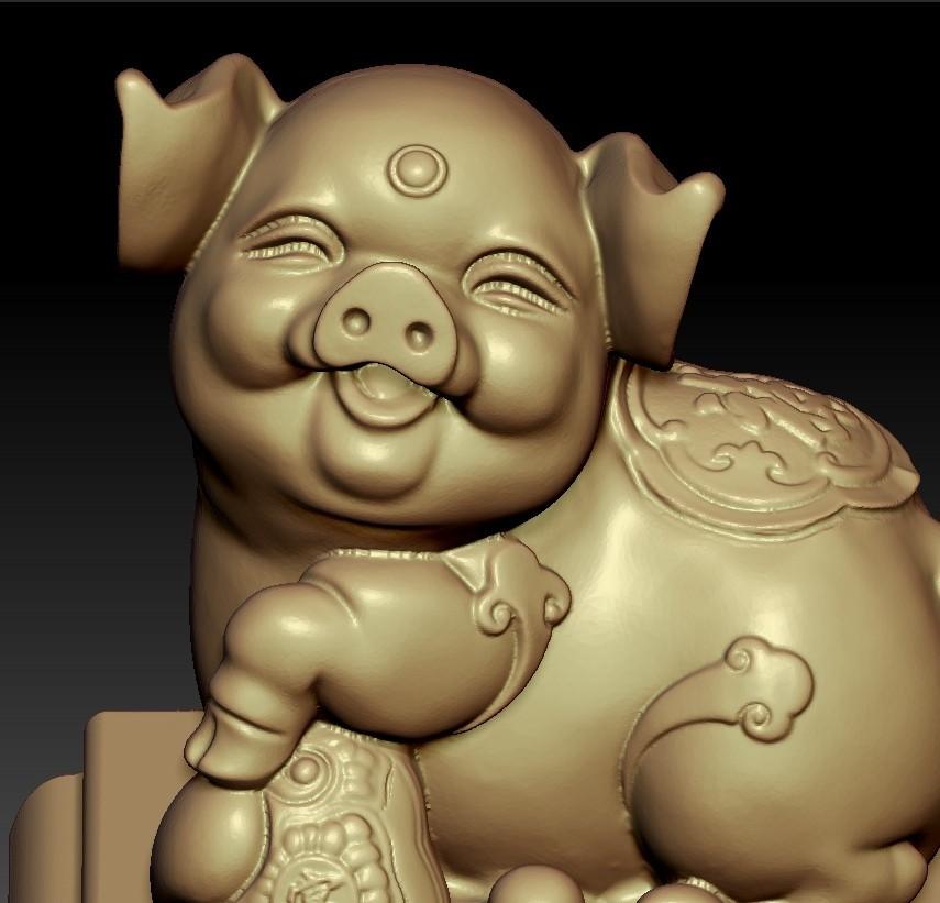 LuckyPig5.jpg Télécharger fichier STL gratuit Cochon chanceux • Plan pour imprimante 3D, stlfilesfree