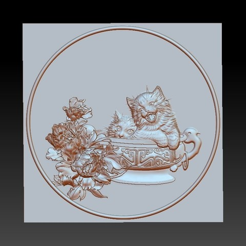 CATS1.jpg Télécharger fichier STL gratuit chats • Modèle à imprimer en 3D, stlfilesfree