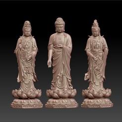 buddha_and_bodhisattva1.jpg Télécharger fichier OBJ gratuit Bouddha et Bodhisattva • Plan pour imprimante 3D, stlfilesfree