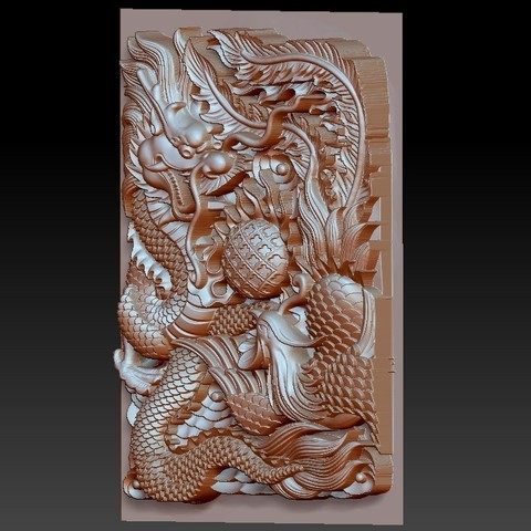 DragonAndPhoenix3.jpg Download free OBJ file dragon and phoenix • Design to 3D print, stlfilesfree