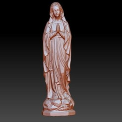 VirginMary1.jpg Download free OBJ file Virgin Mary • Model to 3D print, stlfilesfree
