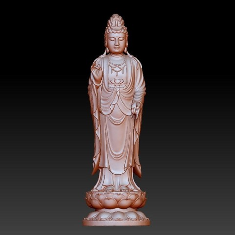 019guanyin1.jpg Download free OBJ file Guanyin bodhisattva Kwan-yin sculpture for cnc or 3d printer19 • Template to 3D print, stlfilesfree