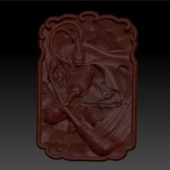 MonkeyKingZ1.jpg Download free OBJ file MONKEY KING 3D MODEL OF BAS-RELIEF FOR CNC • 3D printer design, stlfilesfree