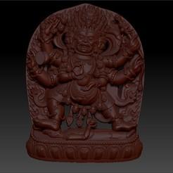 0063tibetanbuddha1.jpg Télécharger fichier STL gratuit Modèle de relief du Bouddha tibétain pour l'impression cnc ou 3D • Design pour impression 3D, stlfilesfree