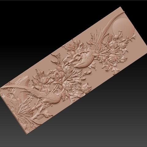 birdsAndFlowers2.jpg Télécharger fichier STL gratuit fleurs et oiseaux • Plan pour impression 3D, stlfilesfree