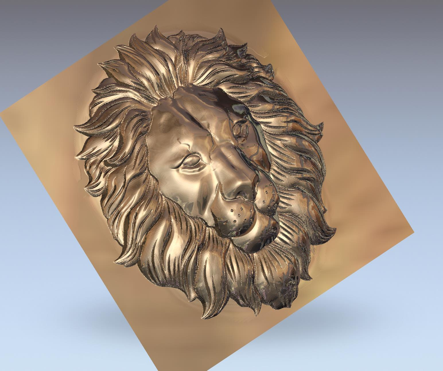 lion_headB5.jpg Download free STL file lion head bas-relief model for cnc • 3D printer design, stlfilesfree