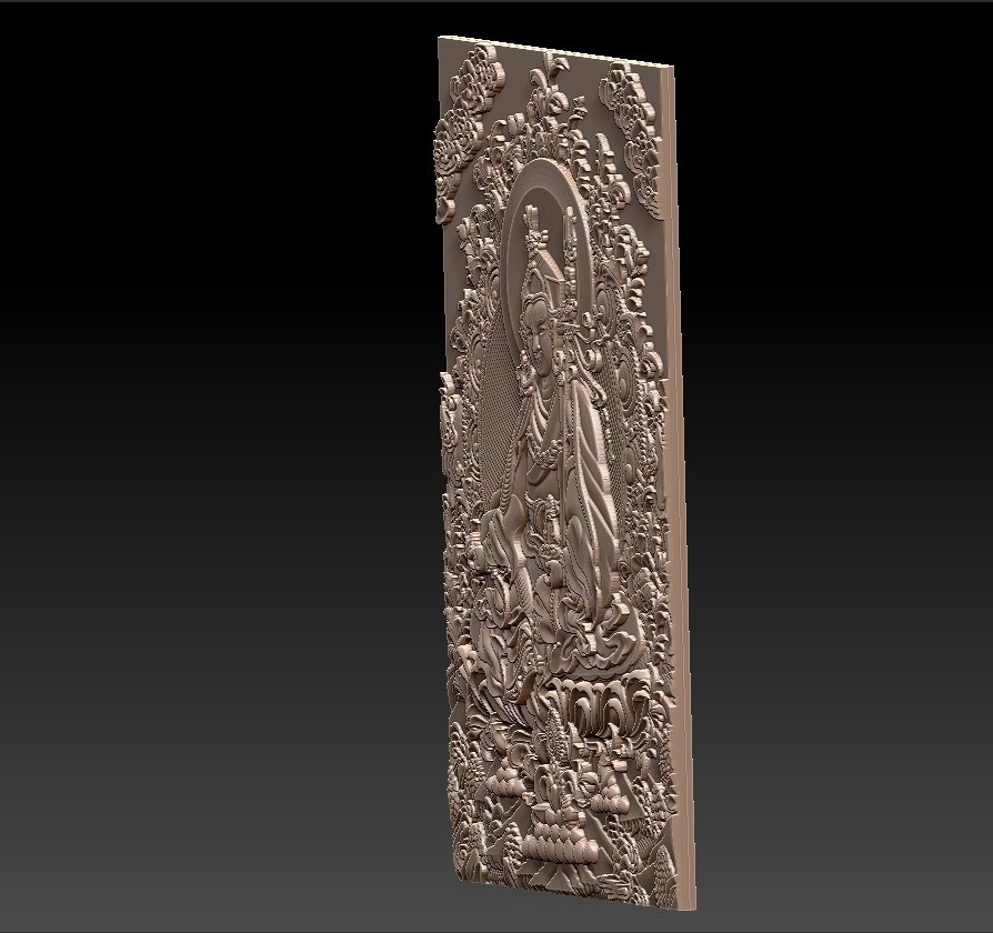 Thangka4.jpg Download free STL file Thangka paintings of bas-relief • 3D print template, stlfilesfree