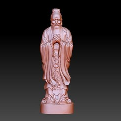 Confucius1.jpg Download free OBJ file Confucius statue • 3D printing object, stlfilesfree