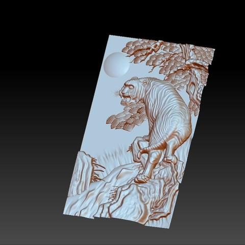 Tiger4.jpg Télécharger fichier STL gratuit tigre • Plan à imprimer en 3D, stlfilesfree