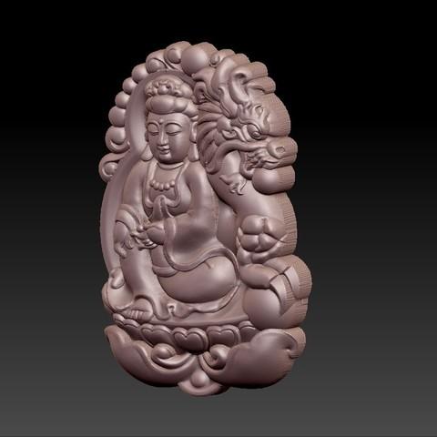 bodhisattva_with_dragon_background5.jpg Télécharger fichier STL gratuit Bodhisattva kwan-yin avec fond de dragon • Modèle pour imprimante 3D, stlfilesfree