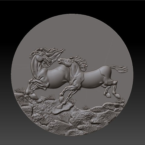 Two_horses2.jpg Download free STL file Two horses • 3D printer design, stlfilesfree