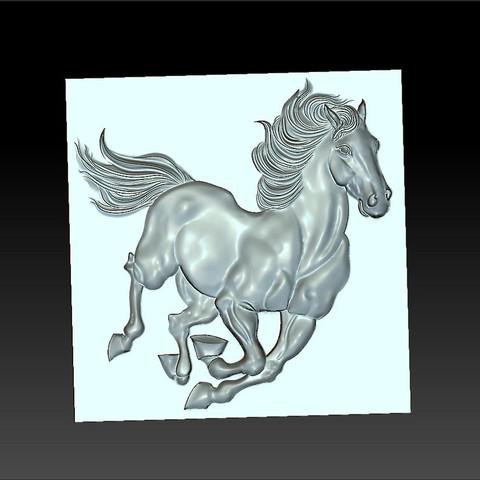 Running_horse4.jpg Télécharger fichier STL gratuit cheval de course • Objet pour imprimante 3D, stlfilesfree