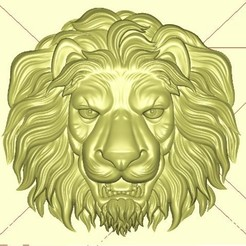 lion11112.jpg Download free STL file lion head relief model • 3D printing template, stlfilesfree