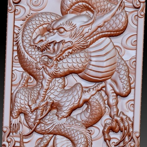 DragonZ5.jpg Download free OBJ file dragon 3d model of relief for cnc or 3d printing • 3D printable template, stlfilesfree