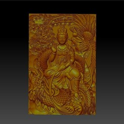 guanyin_with_dragon_and_phoenix1.jpg Télécharger fichier STL gratuit guanyin avec dragon et phoenix • Plan pour imprimante 3D, stlfilesfree