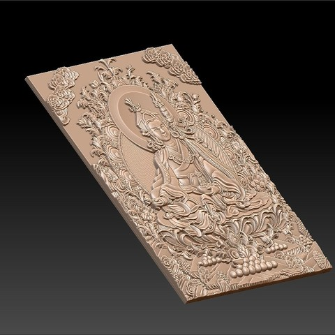 Thangka6.jpg Download free STL file Thangka paintings of bas-relief • 3D print template, stlfilesfree