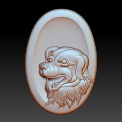 OneDogHead1.jpg Download free STL file dog head pendant • 3D printer design, stlfilesfree
