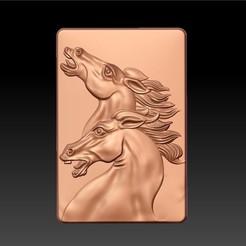 TwoHorses1.jpg Télécharger fichier STL gratuit Deux chevaux • Plan imprimable en 3D, stlfilesfree