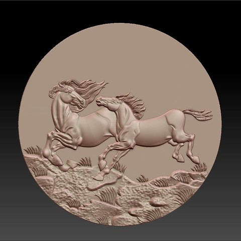 Two_horses4.jpg Download free STL file Two horses • 3D printer design, stlfilesfree