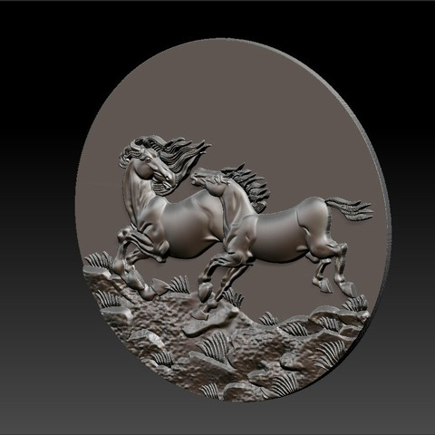 Two_horses6.jpg Download free STL file Two horses • 3D printer design, stlfilesfree