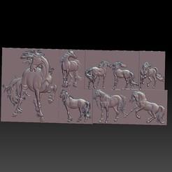 EightHorses.jpg Télécharger fichier STL gratuit Huit chevaux • Objet imprimable en 3D, stlfilesfree