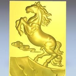 HorseOnRocks1.jpg Télécharger fichier OBJ gratuit cheval au sommet des montagnes • Design imprimable en 3D, stlfilesfree