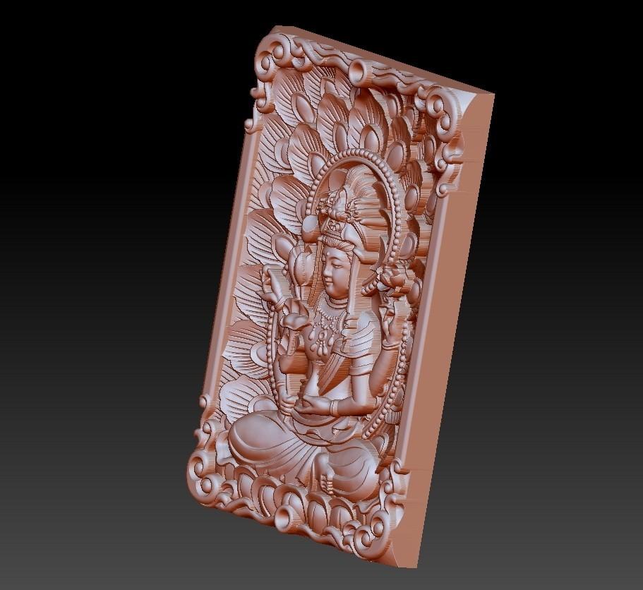 guanyinpeacock3.jpg Télécharger fichier STL gratuit Bouddha Guanyin • Modèle imprimable en 3D, stlfilesfree