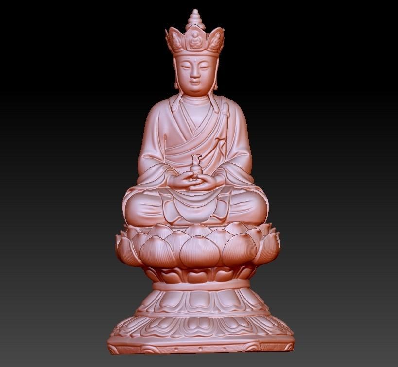 JizoA1.jpg Télécharger fichier OBJ gratuit Bouddha Kshitigarbha • Plan pour impression 3D, stlfilesfree