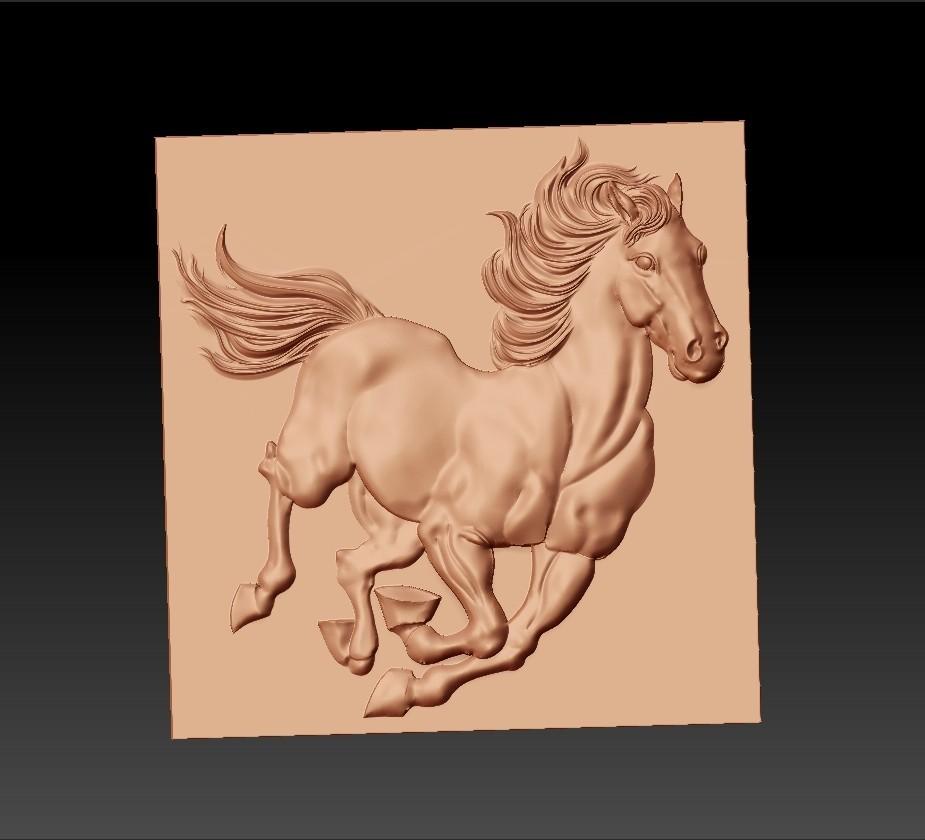 Running_horse1.jpg Télécharger fichier STL gratuit cheval de course • Objet pour imprimante 3D, stlfilesfree