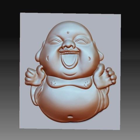 happyBuddhaB1.jpg Télécharger fichier STL gratuit joyeux petit Bouddha • Modèle pour imprimante 3D, stlfilesfree