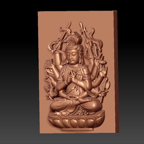 guanyinAQ2.jpg Download free STL file guanyin with thousands of hands • Object to 3D print, stlfilesfree