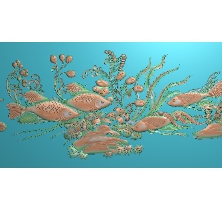 fishunderwater6.jpg Download free STL file fish underwater 3d model of bas-relief • Template to 3D print, stlfilesfree