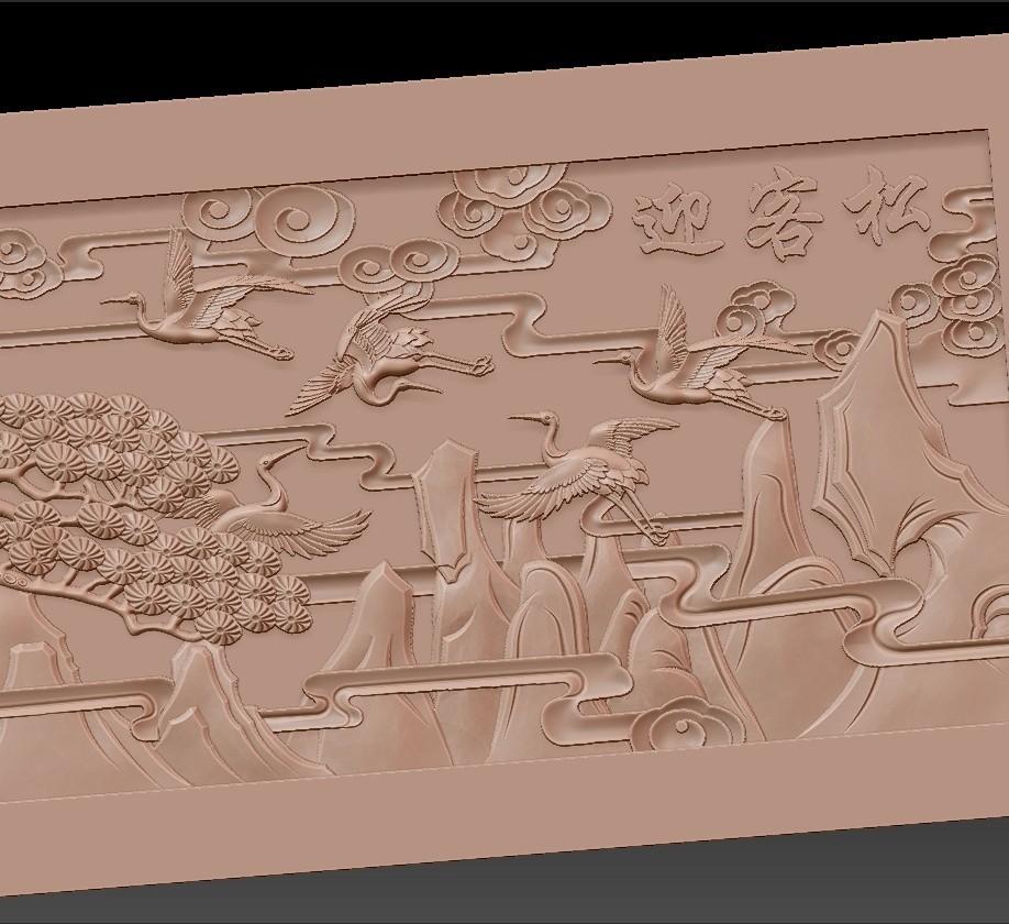 Guest-Greeting_Pine7.jpg Download free STL file Guest-Greeting Pine • Template to 3D print, stlfilesfree