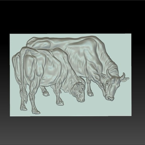 two_bulls3.jpg Download free STL file two bulls • Model to 3D print, stlfilesfree