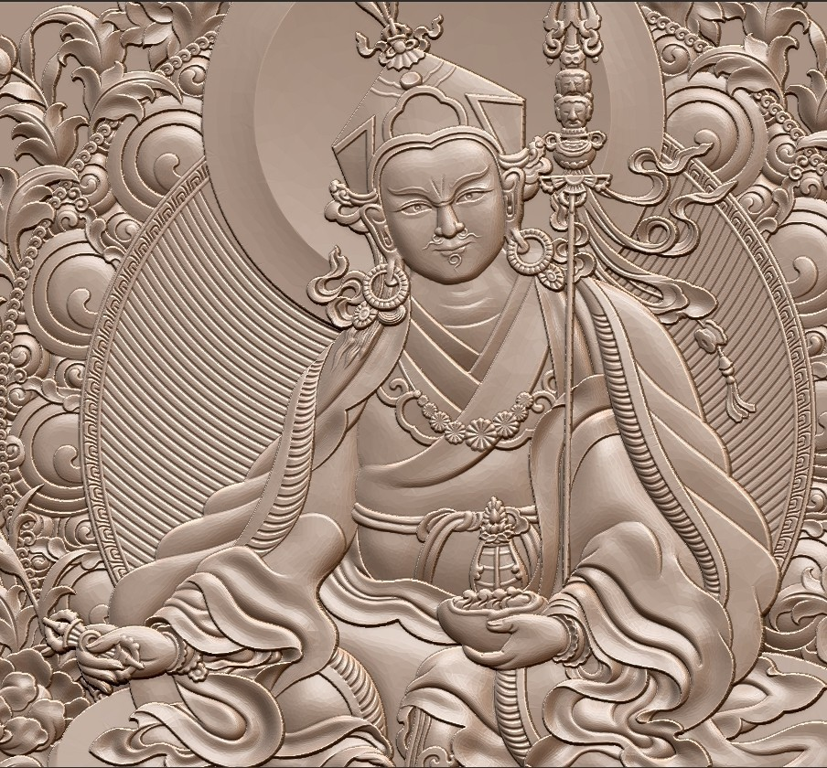 Thangka7.jpg Download free STL file Thangka paintings of bas-relief • 3D print template, stlfilesfree