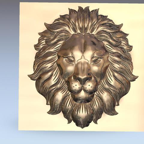 lion_headB1.jpg Download free STL file lion head bas-relief model for cnc • 3D printer design, stlfilesfree